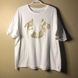 True religion XXL logo shirt sleeve tee